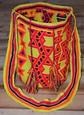 Tribally Hand Woven Wayuu Large Colorful Mochila Shoulder Bag, Colombia