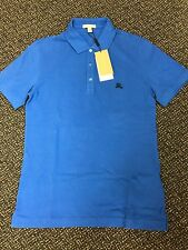 BURBERRY BRIT Classic Mens Polo Shirt HYDRANGEA BLUE SIZE M BRAND NEW !!!