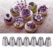 7Set Arrival Russian Tulip Icing Piping Nozzles Cake Decor Tips Baking Tools