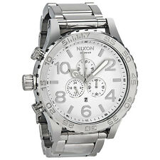 Nixon 51-30 Chronograph High Polish Stainless Steel Mens Watch A083488
