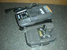 RYOBI P118 & P102 ONE+ 18-Volt Lithium-Ion Compact Battery and 18V Charger