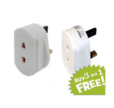 2 Pin to 3 Pin Electric Shaver Plug Adaptor For Bathroom White Adaptor