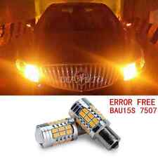 2x Canbus 1156PY BAU15S 7507 Amber Yellow High Power Turn Signal LED Bulbs Light