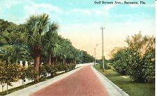 Early 1900's The Gulf Stream Avenue in Sarasota, FL Florida PC