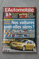 L'automobile - N°666 NOV 2001 Mini Cooper BMW série 1 Prost raconte Schumacher