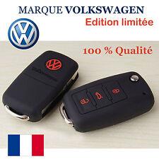 VOLKSWAGEN Etui housse de protection clé 3 boutons télécommande coque origine VW