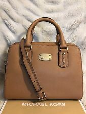 NWT MICHAEL KORS SAFFIANO LEATHER SMALL SATCHEL BAG IN ACORN (SALE!!)