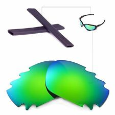 New WL Polarized Emeraldine Vented Lenses + Black Earsocks For Oakley Jawbone