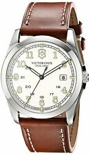 Swiss Victorinox Unisex 241564 Infantry Analog Display Swiss Quartz Brown Watch