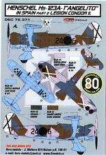 "KORA Models Decals 1/72 HENSCHEL Hs-123A-1 ""ANGELITO"" Legion Condor Part 2"