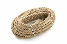24mm Thick x 10m Natural Jute Hessian Rope Cord Twisted Boating Garden Decking
