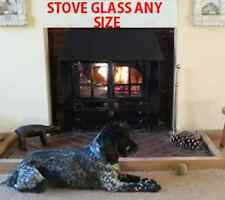 Replacement heat resistant multifuel / wood burning stove glass- cut any size
