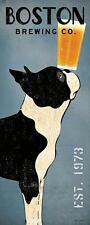 BOSTON TERRIER DOG BREWING COMPANY Co. Retro Advertising Poster Art Print Beer