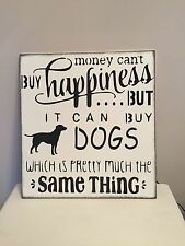 Dog Happiness Wooden Sign Plaque Shabby Chic Home Rustic Vintage Friend Gift