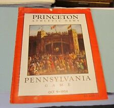 1954 Pennsylvania Quakers vs. Princeton Tigers College Football Game Program