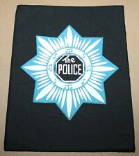 The Police, Star, small printed Backpatch, Vintage 70's / 80's, rar, rare