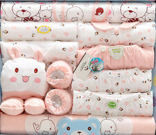 19pcs/Set pink Cute four Season clothes baby girl new born baby Outfits & Sets