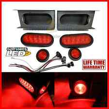 "LED Trailer Truck Steel Housing Box w/ 6"" OVAL Tail Light and 2"" Marker Light"