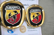 Fiat Abarth Badge Front Grille Rear Boot Car Emblem 24K Gold Plated 0735495890
