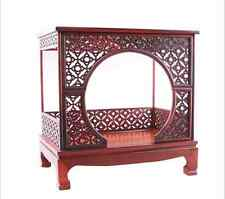 Dolls House Miniature Oriental Furniture Rosewood Antique arched bed