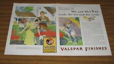 1930 Print Ad Valentines Valspar Finishes Family with New Paint on Patio Table