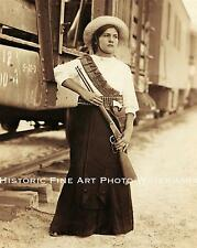 MEXICAN REVOLUTION VINTAGE PHOTO SOLDADERAS WOMAN IN THE ARMY WAR 8x10 #22059