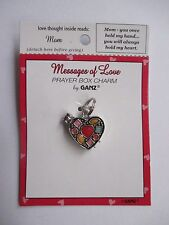 b Mom you held my hand  hold heart Messages of Love PRAYER BOX CHARM LOCKET Ganz