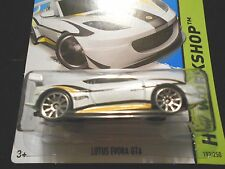 HW HOT WHEELS 2014 HW WORKSHOP #193/250 LOTUS EVORA GT4 HOTWHEELS WH TRACK READY