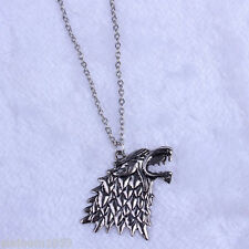 DIRE WOLF HEAD NECKLACE PENDANT BRAND NEW