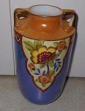 Vintage Noritake Art Deco Lustreware Vase Japan Hand-Painted