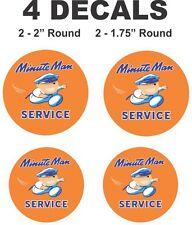 4 Minute Man Service Vinyl Decals