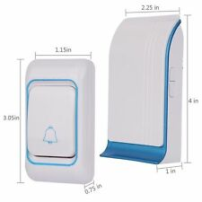 Doorbell Portable Plug-in Wireless Door Chime and Push Button W/ LED Indicator