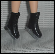 SHOES MATTEL BARBIE VICTORIAN ELEGANCE  DOLL BLACK BOOT FAUX LACE ICE SKATES
