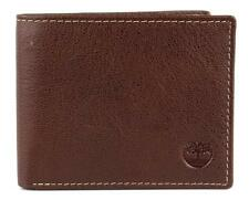 NEW TIMBERLAND MEN'S PREMIUM GENUINE LEATHER PASSCASE WALLET BROWN D50387/01