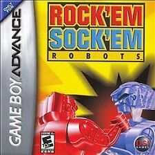 NEW Rock Em Sock Em Robots for Nintendo Game boy Advance System Console