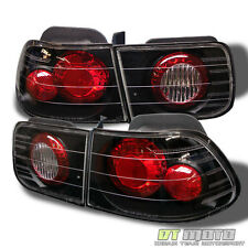Black 96-00 Honda Civic 2Dr Coupe Altezza Tail Lights Lamps Left+Right Pair Set