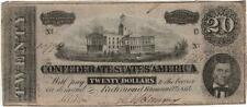 1864 $20 Confederate States of America Bank Note Lot 676