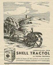 W3037 Lubrificante SHELL TRACTOL - Ilustr. Sorgiani - Pubblicità 1935 - Advertis