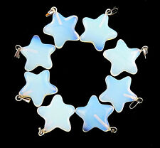 Wholesale Beautiful Opal Opalite Carved Star Pendant Beads B5538
