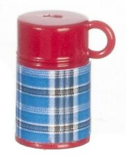 Blue & Red Thermos Flask,Doll House Miniatures, 1.12 Scale Accessory