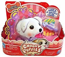 NEW Chubby Puppies Single Pack White MALTESE Dog with Chew Toy - NIP