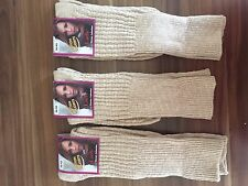 """3  PAIRS LADIES LONG  QUALITY CHUNKY THERMAL SOCKS HIKE BOOT SOCKS   VBFDDMN"