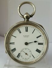 Nice antique solid silver very chunky gents H. STONE LEEDS pocket watch 1902