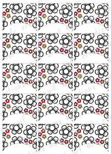 15 FRENCH NAIL TIPS *SUMMER FLORAL DOODLE* WATERSLIDE NAIL ART DECALS Nail Decal