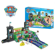 Fun Cute Paw Patrol Figure Car Parking Lot Playground 4pcs Pups Car Kids Toy Set
