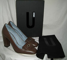 TOPSHOP UNIQUE - LADIES BROWN LEATHER SHOES - SIZE UK 7