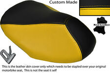 BLACK & YELLOW CUSTOM FITS YAMAHA AEROX YQ 50 100 99-10 FRONT LEATHER SEAT COVER