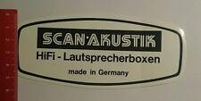 Aufkleber/Sticker: Scan Akustik Hifi Lautsprecherboxen (060816187)