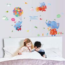 Cute Hot Balloon Decor Decal Wall Stickers For Childrens Nursery Room / Boys DIY