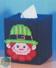 Plastic Canvas Kit ~ Design Works Leprechaun Tissue Box Cover #DW1895 SALE!